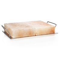 BBQ Pro by Rivsalt - 2 Himalayan Salt Blocks + Metal Holder