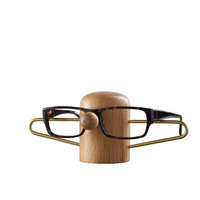 Dot Aarhus Nosey Eyewear Holder - Oak + Brass
