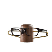 Dot Aarhus Nosey Eyewear Holder - Walnut + Brass