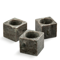 Brown Marble Tea Light Holders