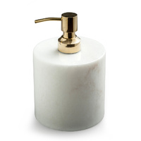 Soap dispenser w brass pump white