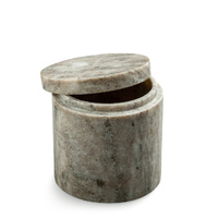 Brown Marble Canister with Lid 10.5x10.5cm