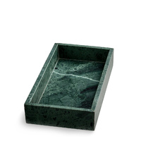 Green Rectangular Marble Tray
