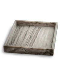 Brown Marble Tray 30x30cm