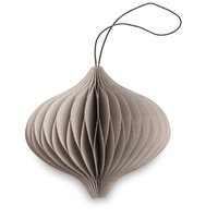 Nude Grey Paper Onion Ornament