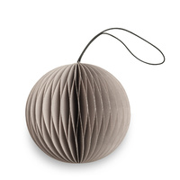 Nude Grey Paper Scoop Ornament