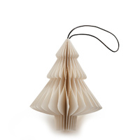 White Paper Tree  Ornament