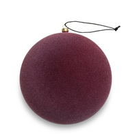 Burgundy Velvety Sphere Ornament - Large