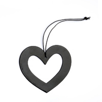 Black Metal Heart Ornament