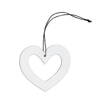 White Metal Heart Ornament