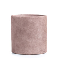 Suede Pencil Holder Pale Rose