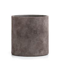 Suede Pencil Holder Grey
