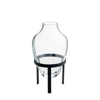 Vase small w matt black stand