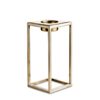 T-light holder large matt brass