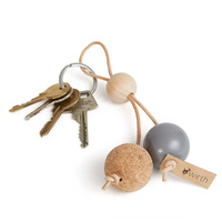 by Wirth Key Sphere Keychain - Nature Oak with Grey