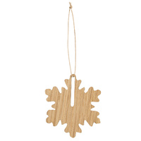 by Wirth Hang on Snowflake Ornament - Nature Oak