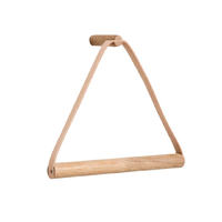 by Wirth Towel Hanger - Nature Oak + Leather