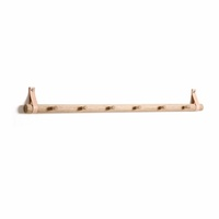 by Wirth Rack 6 Dots - Nature Oak + Leather