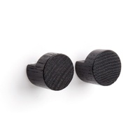 Wood Knot Small - Black 2pc