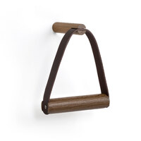 by Wirth Toilet Paper Holder- Smoked Oak + Leather