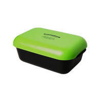 Frozzypack lunch box - black box/green lid