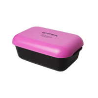 Frozzypack lunch box - black box/cerise lid