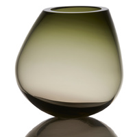 Cognac - Glass vase/sculpture grey/green