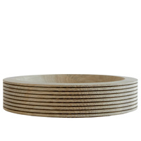 Divided - scandinavian oak bowl d26cm