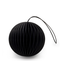 Black Paper Scoop  Ornament