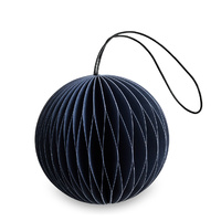 Midnight Blue Paper Scoop  Ornament