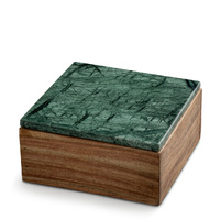 Wooden Box Small w Green Marble Lid