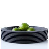 Divided - scandinavian oak-bowl d26cm BLACK