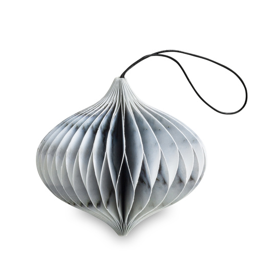 Marble Paper Onion Ornament