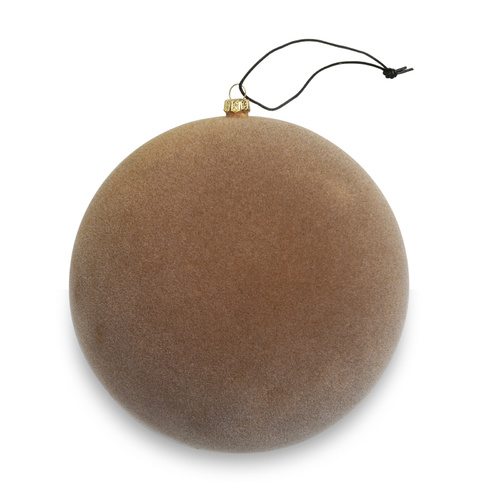 Curry Velvety Sphere Ornament - Large