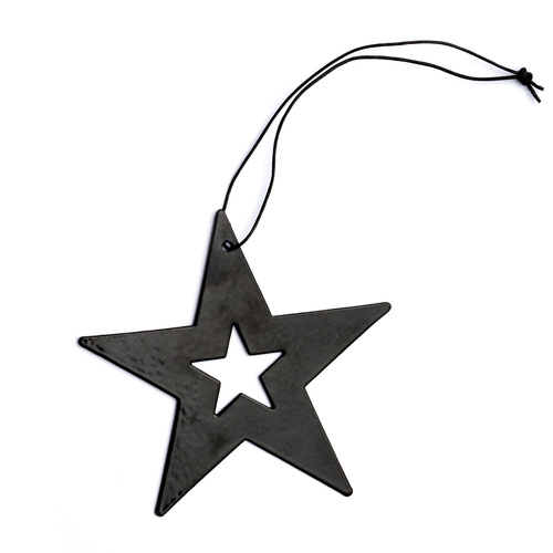 Black Metal Star Ornament