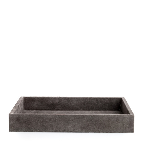Suede Tray Grey