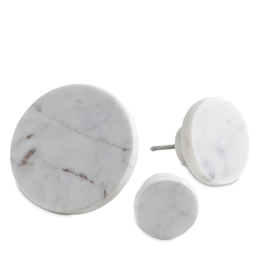 White Marble Coat Hook Small D4cm