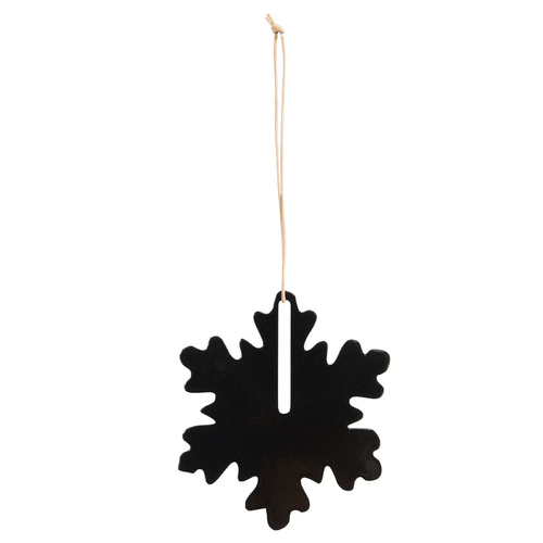 by Wirth Hang on Snowflake Ornament - Metal Black