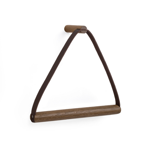 by Wirth Towel Hanger- Smoked Oak + Leather