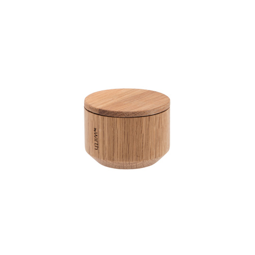 by Wirth Salt Me Salt Jar with Lid - Natural Oak